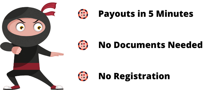 Payout within 5 minutes