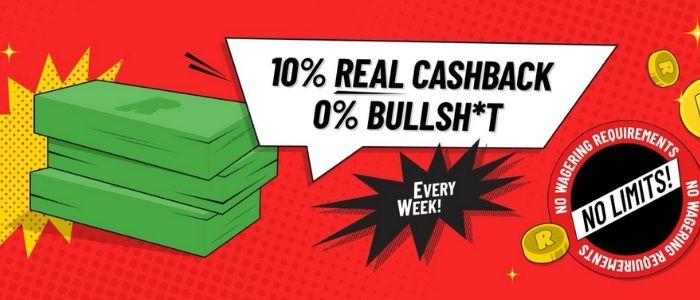 refuel casino Cashback Bonus
