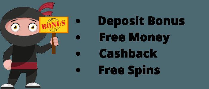 different types of Casino bonuses